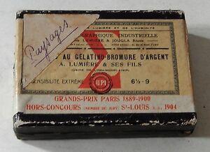 Boite-Plaques-de-Verre-A-LUMIERE-amp-ses-Fils-au-Gelatino-Bromure-d-039-Argent-VIDE