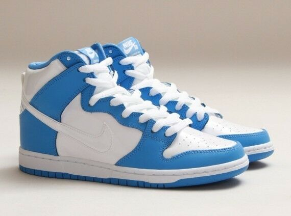Nike SB Dunk High Rival Pack UNC Rivalry Pack White Blue