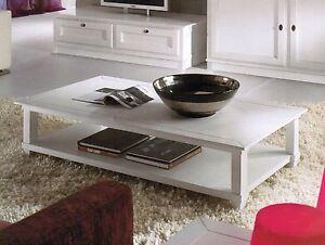 Tavolino basso in legno laccato bianco da salotto in vari for Tavolino per salotto