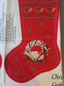 Wamsutta Hallmark Fabric Panel A Christmas Gathering Countdown Advent Calendar