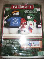 Sunset Snow Folk Chill Chaser Kit Snowmen Draft Dodger Craft Holiday Nip 1997