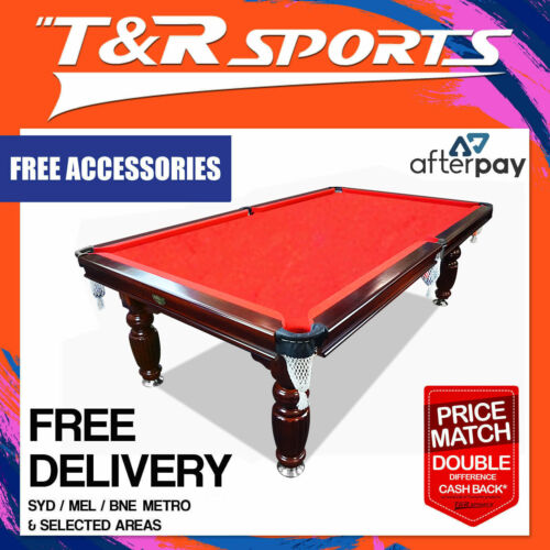 8ft Red Slate Pool Table