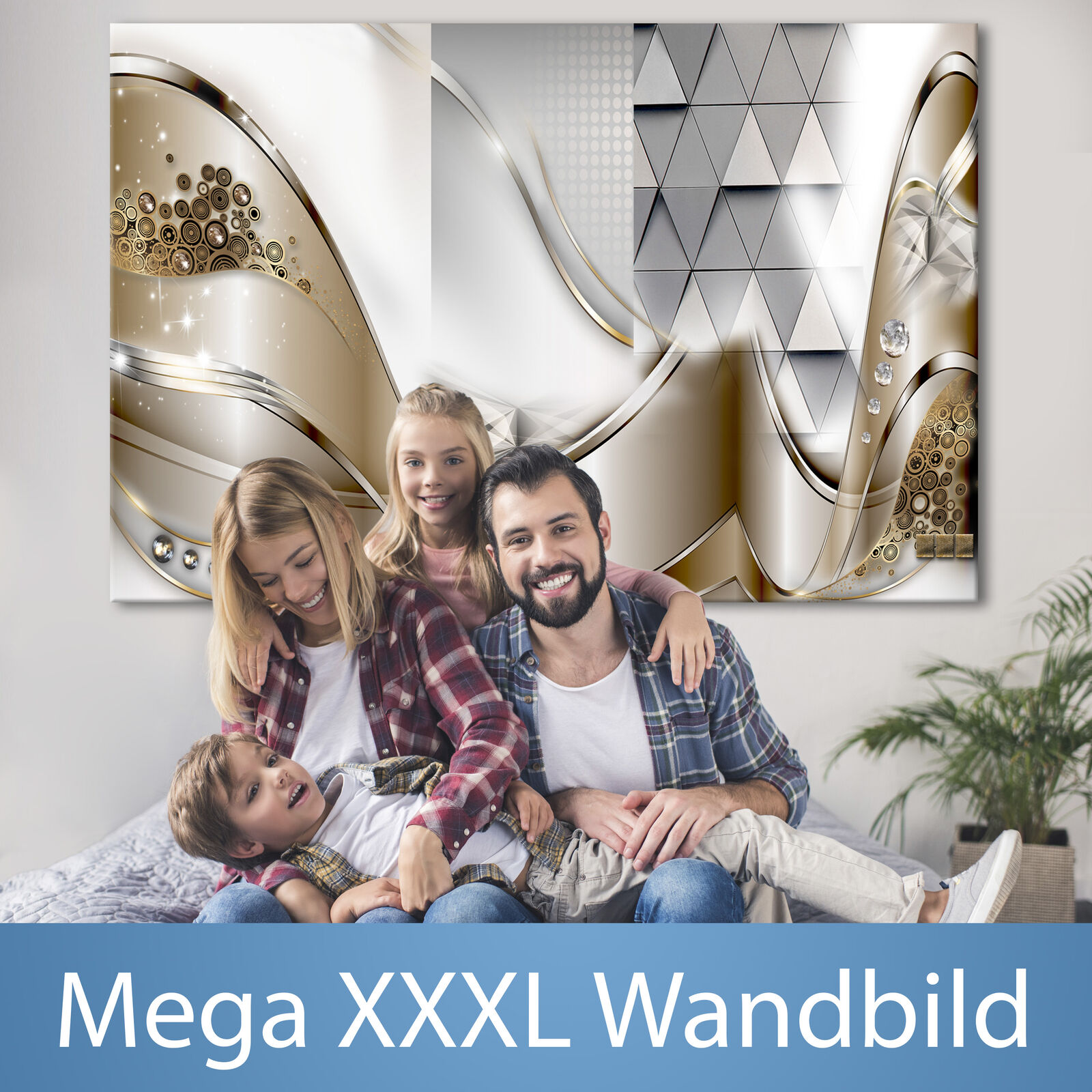 ABSTRAKT XXXL Wandbild Riesenformat Leinwandbild DIY Canvas Bild a-A-0004-ak-a