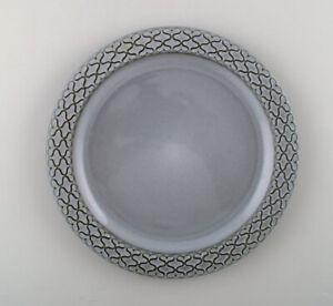 Bing-amp-Grondahl-number-325-Set-of-14-dinner-plates-Grey-Cordial-Quistgaard