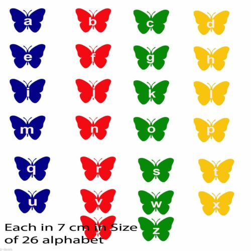 A-Z Alphabet 26 Butterfly Letters Mural Decals Wall Stickers Kids Early Learning