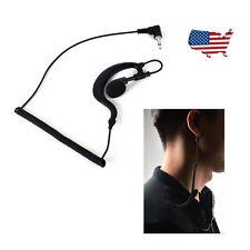 G Shape Soft Ear Hook Earpiece Headset 3.5mm Plug Listen Only Ham Radio Tc-617