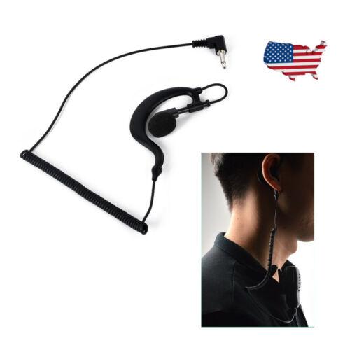 G Shape 3.5mm Plug Ear Hook Listen Only Ham Radio Earpiece for Motorola ICOM MIC
