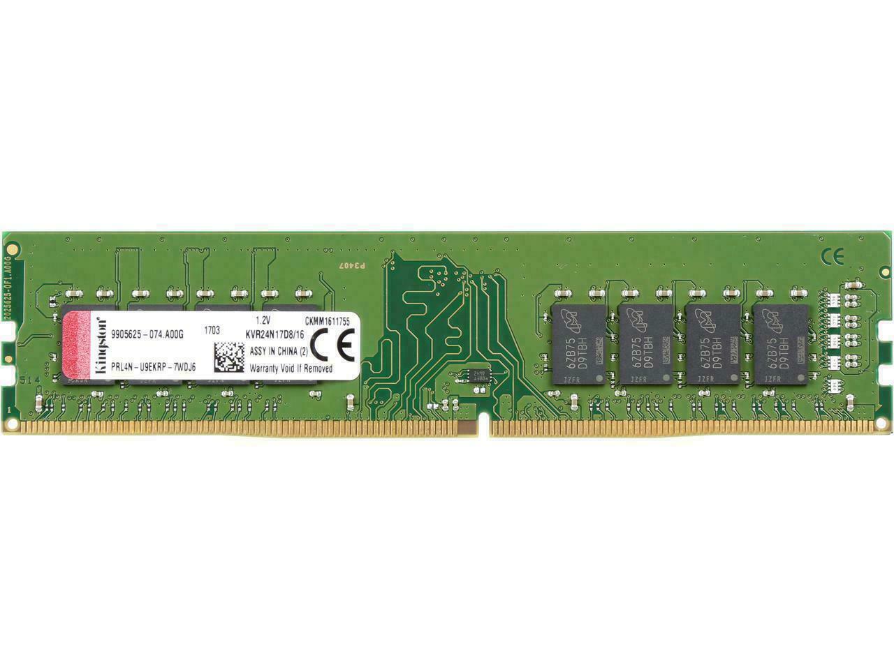 Kingston KCP424ND8/16 16GB DDR4 2400Mhz DIMM RAM Module for sale online   eBay