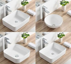 Details about DeerValley Modern Above Counter Porcelain Ceramic Bathroom  Vessel Sinks