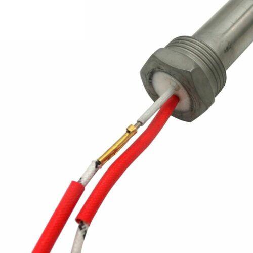 Thread Cartridge Heater Heating Element 12x150//200mm Tube 201 Stainless Steel