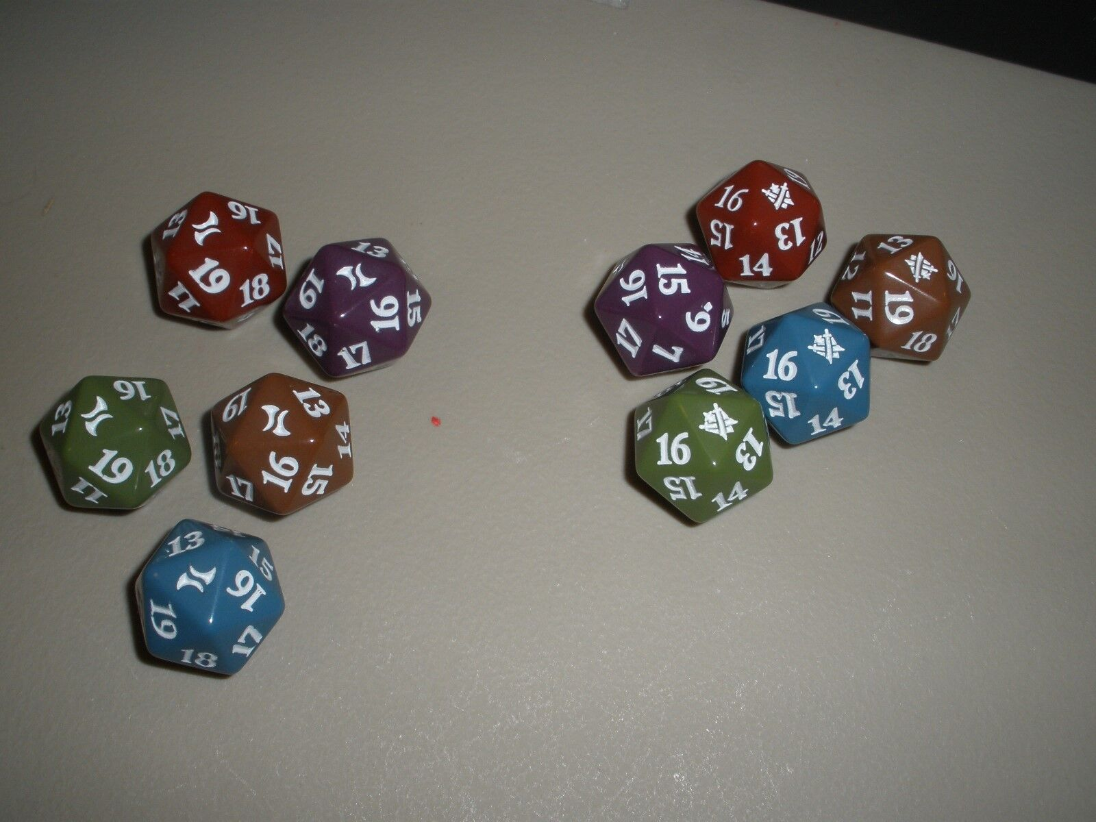 MTG Magic Fate Reforged & Khans of Tarkir Spindown Dice Die x10 1 of Each color
