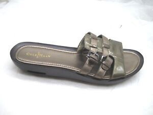 Cole-Haan-Air-9-5B-bronze-brown-buckle-slides-womens-ladies-sandals-shoes-D39792