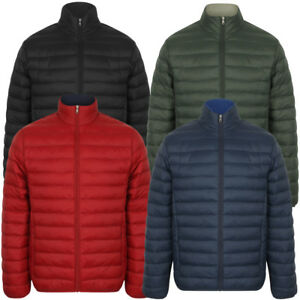 Tokyo-Laundry-Men-039-s-Bakman-Plain-Quilted-Padded-Puffer-Bubble-Jacket