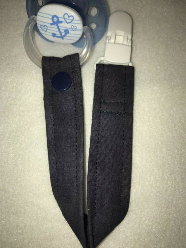 Schnullerband Schnullerkette Nuckelband Marineblau Dunkelblau Uni  *Art:SB#A9