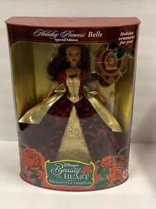 Disneys Beauty & The Beast Holiday Princess Belle Doll Vintage 1997 Special Ed.