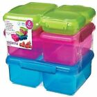 Sistema Lunch Food Storage Container Pack of 6 Multicolour