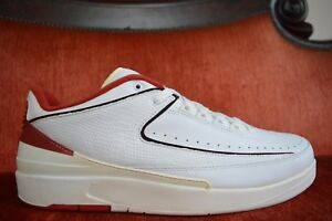7edc71a03d67 New 2004 Nike Air Jordan Retro 2 low white black varsity red 309837 ...