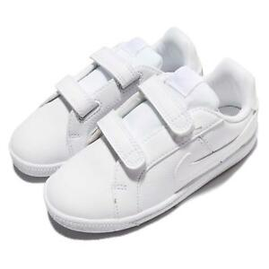 3d5112a796df Nike Court Royale TDV Triple White Leather Toddler Infant Baby Shoes ...
