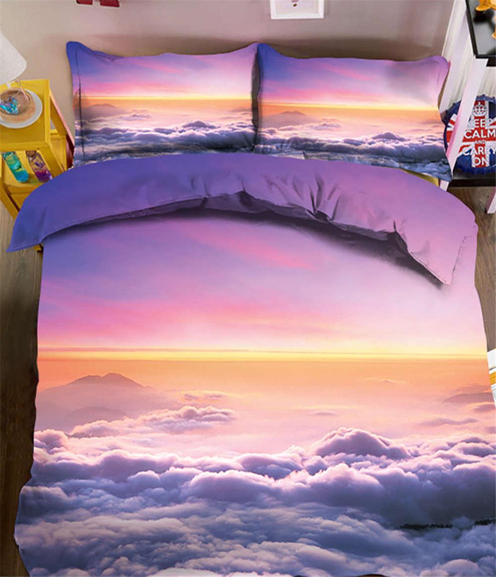 PowderBlau Sky 3D Printing Duvet Quilt Doona Covers Pillow Case Bedding Sets