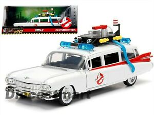 JADA-HOLLYWOOD-RIDES-1-24-GHOSTBUSTERS-ECTO-1-DIECAST-MODEL-CAR-NEW-99731