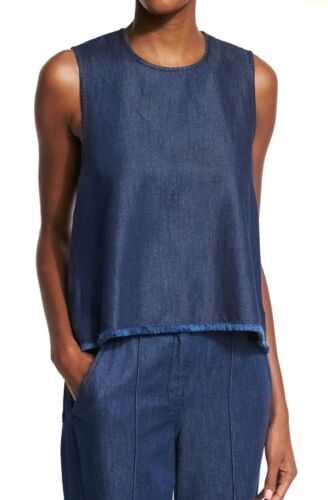 A.L.C. Womens Nina Sleeveless Indigo Chambray Top