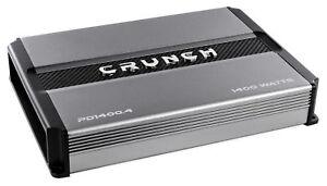 Crunch-PD1400-4-1400-Watt-4-Channel-Pro-Power-Car-Audio-Amplifier-Class-AB-Amp