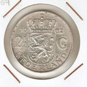Holanda (netherlands) 2 1/2 Gulden 1962 (silver) Iezfewve-08002626-268798542