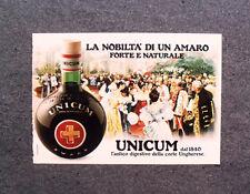[GCG] M966 - Advertising Pubblicità - 1980 - AMARO UNICUM , FORTE E NATURALE