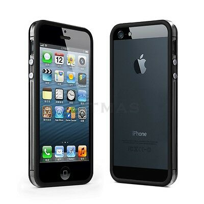 Black Clear TPU Silicone Bumper Frame Case Skin Cover Protector for iPhone 5 5S