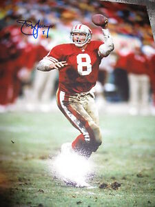 STEVE-YOUNG-SAN-FRANCISCO-49ers-SIGNED-AUTOGRAPH-11x14-PHOTO-IN-PERSON-RARE-F