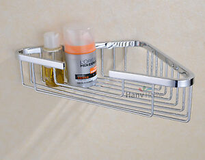 Image Is Loading Bathroom Stainless Steel Shower Caddy Wall Mounted Corner
