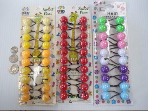 3 packs Round Elastic hair Balls Scrunchies braiding Ponytail Holder