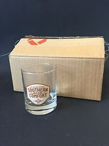 6x Southern Comfort Whisky Bourbon Glas Tumbler Neu Ovp Cocktail