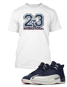 04b665819c5 23 Tee Shirt to Match Air Jordan 12 International Flight Shoe ...