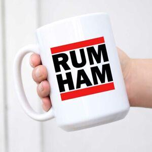 Rum Ham Funny Logo Parody Ceramic Coffee Mug Tea Cup Fun Novelty Gift