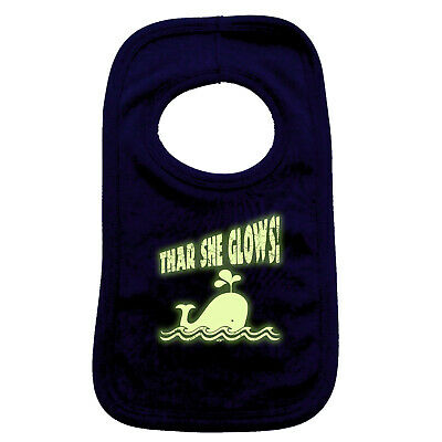 Funny Baby Infants Bib Napkin - Thar She Glows Glow In The Dark Preventing Hairs From Graying And Helpful To Retain Complexion