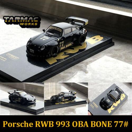 Tarmac Works 1:64 Porsche Rsf 993 Oba Bone 77# Diecast Carro Modelo 2020 Japão Novo