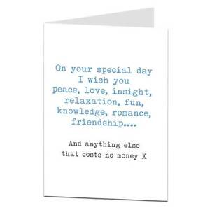 Happy Birthday Card For Brother Sister Best Friend Mate Funny Sarcastic Blunt Ebay