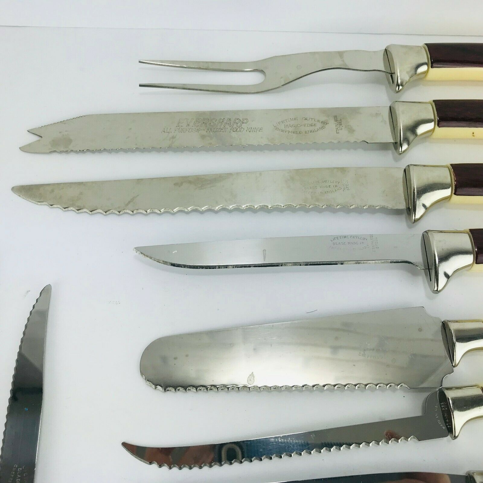 Sheffield England Stainless Steel Cutlery Cutlery Cutlery Knife Carving Serving Set of 19 e035f0