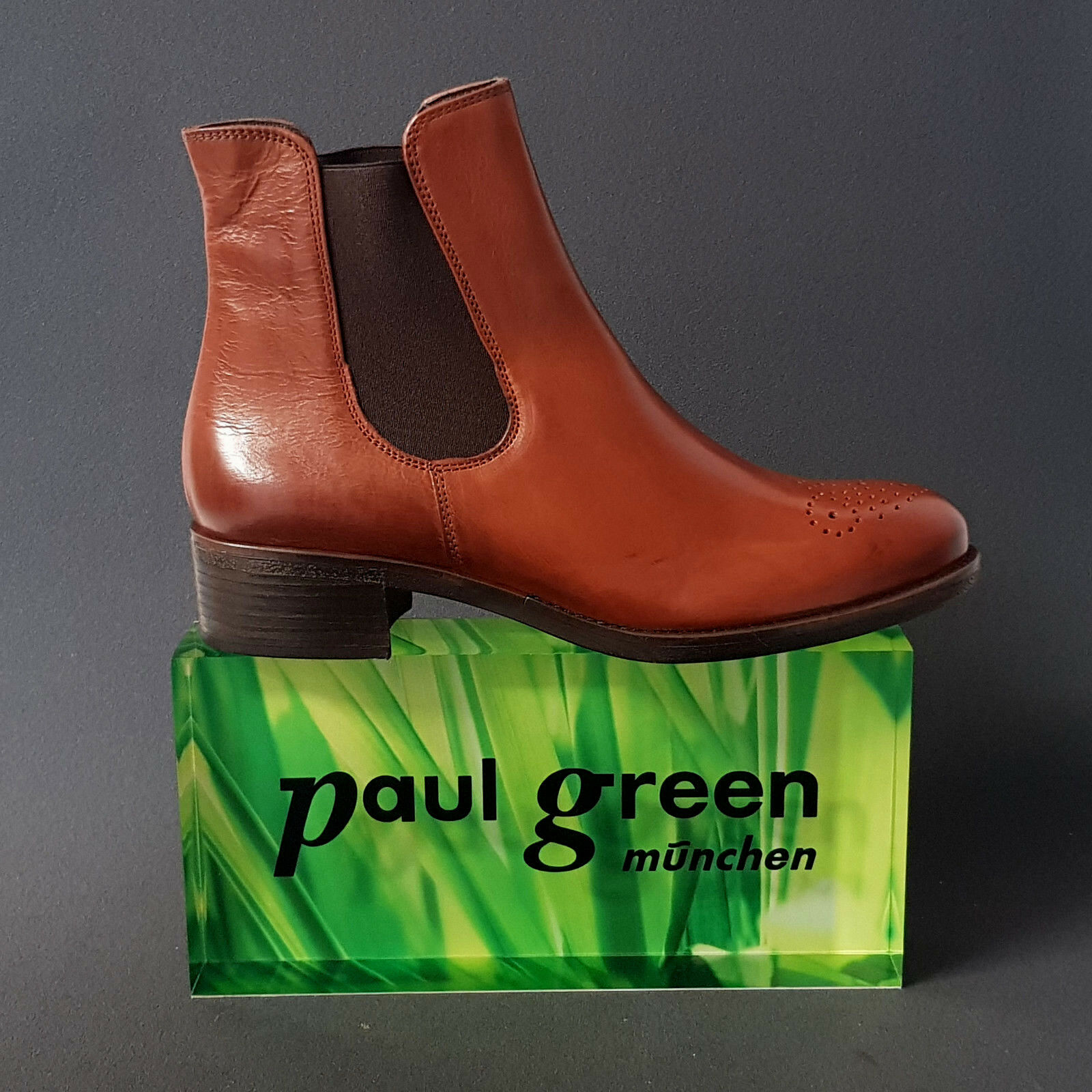 Paul Grün Damen braun Stiefel Stiefeletten Chelsea Stiefel braun Damen cognac 9190 Leder Neu 880eb8