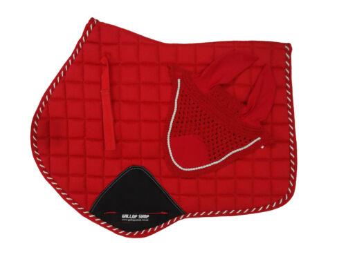 Close Contact Jumping Saddle Cloth Numnah Saddle Pads Fly Veil