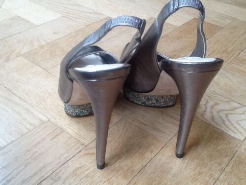 5Us Sandalen hohem Silver 37 7m Uk 4 5Eu NewGenLadies Bcbgmaxazria mit Absatz 6b7gyYf