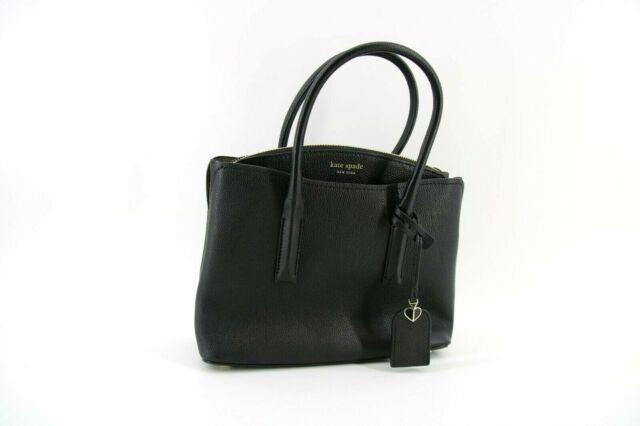 Kate Spade Margaux Medium Pebble Leather Satchel Travel Handbag Black Gift#Z297