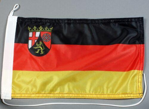 Bootsflagge Rheinland Pfalz 30x20 cm Motorradflagge