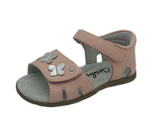 Girls Shoes Grosby Helena White or Pink Sandals Size 4-8.5 New Leather Lining