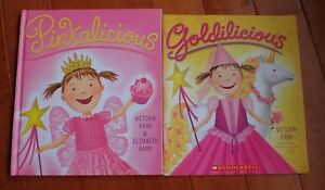 Lot-of-2-Goldicious-paperback-and-Pinkalicious-Hardcover