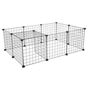 Dog-Playpen-Crate-Metal-Fence-Pet-Puppy-Play-Pen-Exercise-Cage