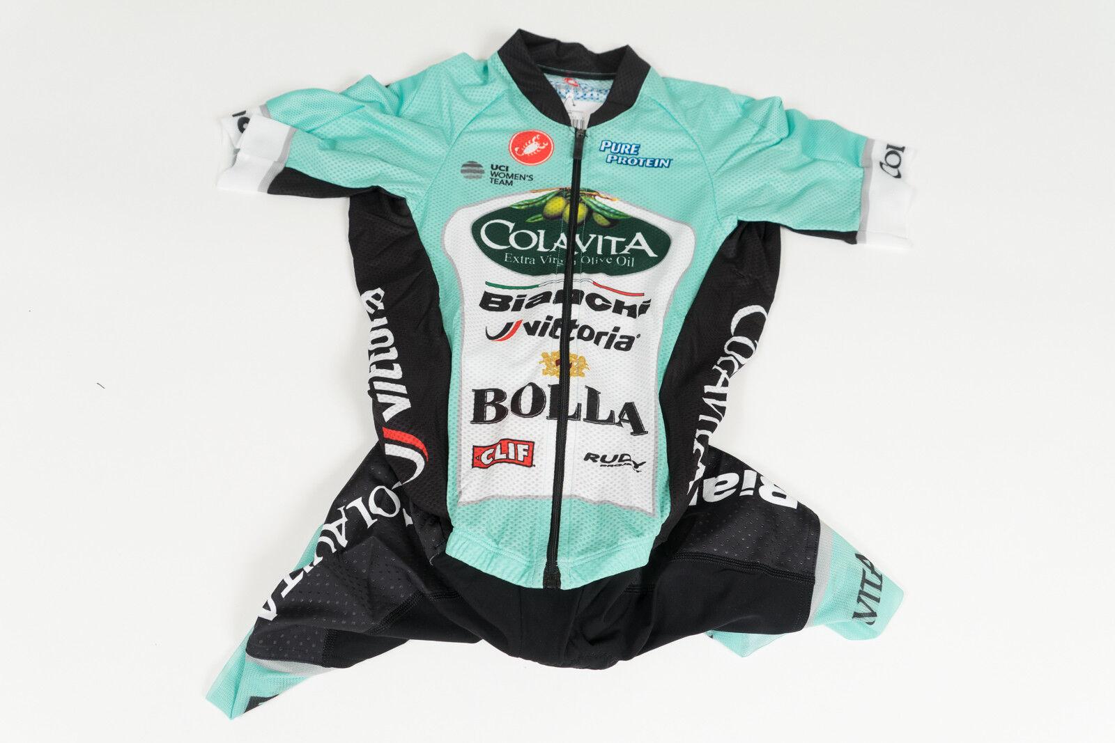 Nuevo 2017 mujer Castelli Colavita Pro Ciclismo San Remo 3.2 traje de velocidad de manga corta, talla. M