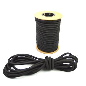 "1//2/"" Black Shock Cord Marine Grade Bungee Heavy Duty Tie Down Stretch Rope Band"