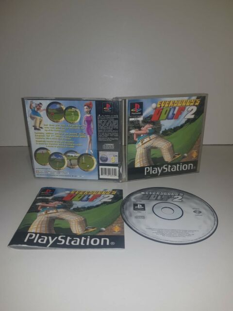 EVERYBODY'S GOLF 2 GIOCO  PLAYSTATION 1 PS1 PAL FUNZIONANTE COMPLETO BLACK LABEL